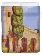 A Church At Cagnes Duvet Cover