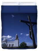 A Church In Colorado Displaying Duvet Cover