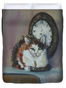 A Clockwork Cat Duvet Cover
