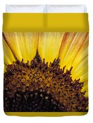 A Close-up Detail Of A Sunflower Head Duvet Cover