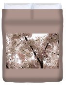 A Cloud Of Pastel Pink Cherry Blossoms Celebrating The Arrival Of Spring  Duvet Cover