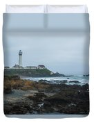 A Cloudy Day At Pigeon Point Duvet Cover