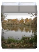 A Cloudy Day On The Pond Duvet Cover