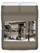 A Coal Miners Bar  George Ave Parsons Pennsylvania Early 1900s Duvet Cover