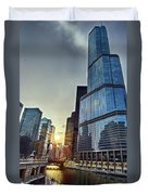 A Cold Chicago Day Duvet Cover
