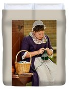A Colonial Lady Knits Duvet Cover