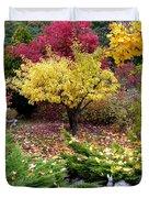 A Colorful Fall Corner Duvet Cover