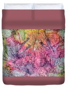 A Colorful Lecture On Glitter Duvet Cover