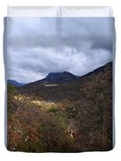 A Colorful Scene Of Burned And Lush Interspersed Foliage In The Southwest Foothills Of The Sierra Ne Duvet Cover