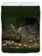 A Compsognathus Prepares To Swallow Duvet Cover