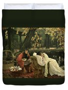 A Convalescent Duvet Cover by James Jacques Joseph Tissot