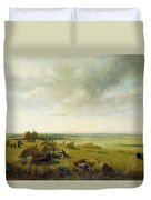 A Corn Field Duvet Cover by Peter de Wint