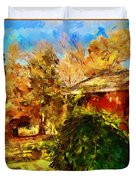 A Corner Of Autumn  Duvet Cover