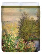 A Corner Of The Garden At Montgeron Duvet Cover by Claude Monet