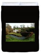A Cornish Cottage By The Stream Duvet Cover