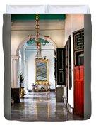 A Corridor In Keraton Sultan Palace Yogyakarta  Duvet Cover
