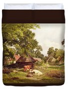 A Cottage Home In Surrey Duvet Cover