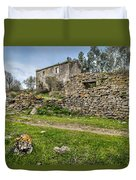 A Cottage In Ruins Duvet Cover