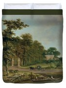 A Country House Duvet Cover by J Hackaert