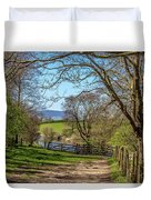 A Country Pathway In Northern England Duvet Cover