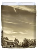 A Country Place 3 - Sepia Duvet Cover