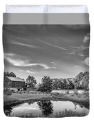 A Country Place Bw Duvet Cover