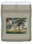 A Country Residence Possibly General Moreau's Country House At Morrisville Pennsylvania Duvet Cover