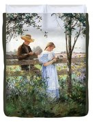 A Country Romance Duvet Cover