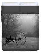 A Country Scene In Black And White Duvet Cover