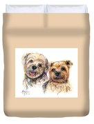 A Couple Of Yorkies Duvet Cover
