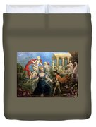 A Courtly Couple Courting Duvet Cover