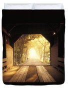 A Covered Bridge In New Market Duvet Cover