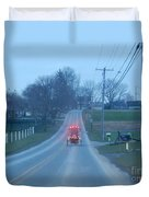 A Cozy Buggy Ride Home Duvet Cover