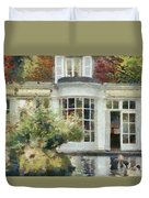 A Cozy House In Brittany Duvet Cover