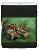 A Crab On Its Back - 1988 Duvet Cover