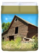 A Crooked Old Barn  Duvet Cover