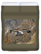 A Cv-22 Osprey Flies Over The Canyons Duvet Cover