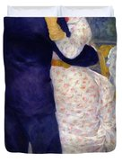 A Dance In The Country Duvet Cover by Pierre Auguste Renoir