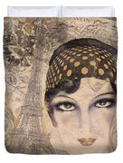 A Date With Paris Duvet Cover
