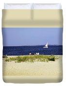 A Day At The Beach - Martha's Vineyard Duvet Cover