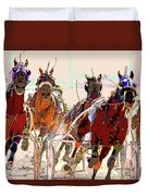 A Day At The Races 2 Duvet Cover
