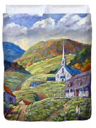 A Day In Our Valley Duvet Cover
