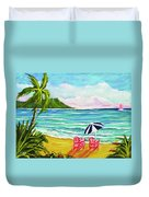 A Day In Paradise #354 Duvet Cover