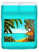 A Day In Paradise Hawaii Beach Shack  #360 Duvet Cover