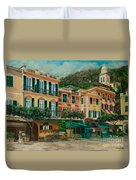 A Day In Portofino Duvet Cover
