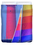 A Day Of Sailing Duvet Cover