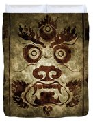 A Demonic Face Duvet Cover