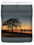 A Detroit Sunset - The View From Belle Isle Duvet Cover
