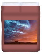 A Divided Sky At Sunset Duvet Cover