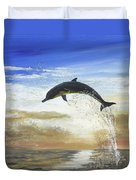 A Dolphin's Life Duvet Cover